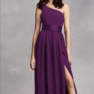 Vera Wang Plum Bridesmaids Dress